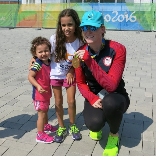 Emily Regan, of the U.S. Gold-Medal Women's Eight Rowing Team Tells Kids to Live Drug-Free